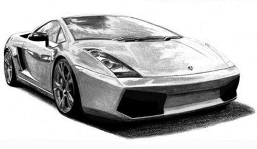 Pencil Cool Car Drawings Clip Art Library