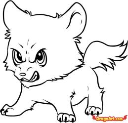 cute wolf coloring pages Clip Art Library