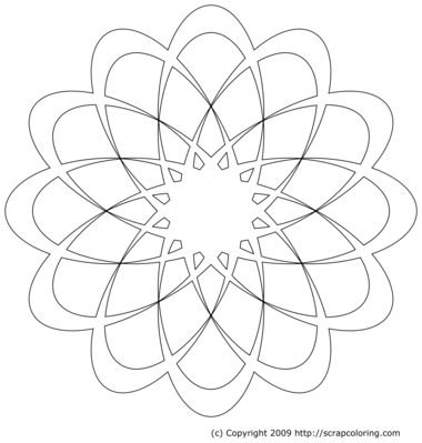 Free Rose Window Outline, Download Free Clip Art, Free