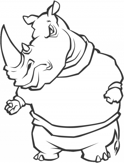 Free Cartoon Rhino, Download Free Clip Art, Free Clip Art