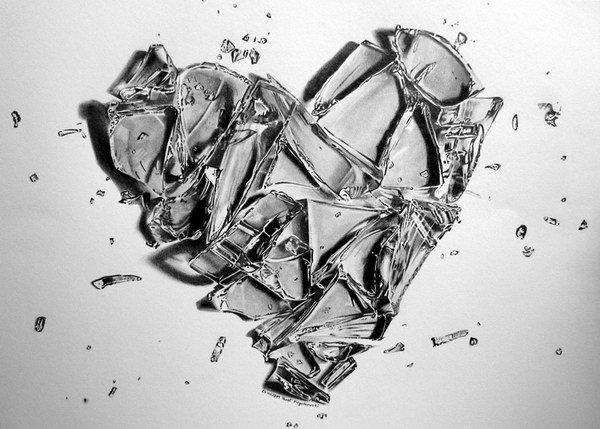 Realistic Broken Heart Drawings Clip Art Library