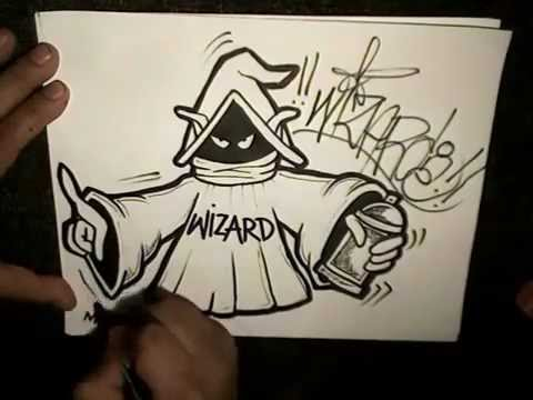 How To Draw A WIZARD HOLDING SPRAYPAINT CAN  YouTube