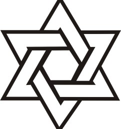 star of david vector clipart library [ 1331 x 1522 Pixel ]