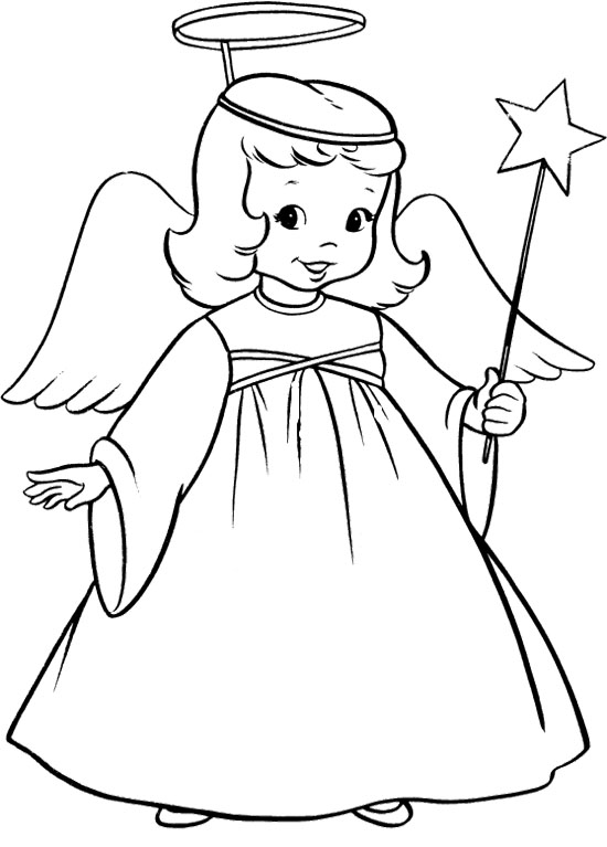 Pinterest Angel Coloring Pages