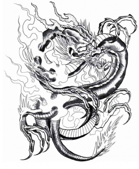 Free Fire Breathing Dragon Tattoo Download Free Clip Art