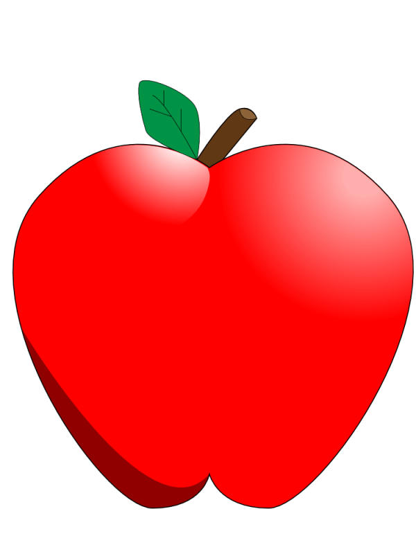 free red apple clipart