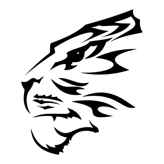 Free Tiger Paw Print Stencil, Download Free Clip Art, Free