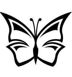 butterfly clip art black and white clipart library free clipart [ 1969 x 1952 Pixel ]