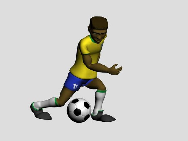 3d soccer player Clipart library Clipart library