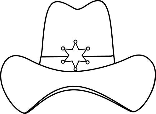 cowboy hat coloring page # 12