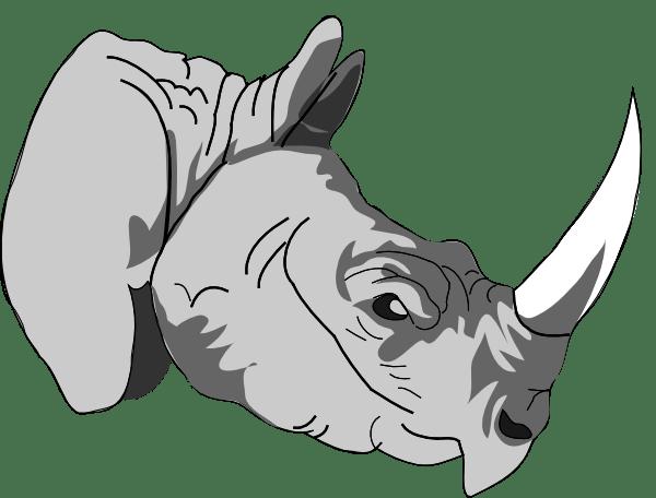 free cartoon rhino pictures