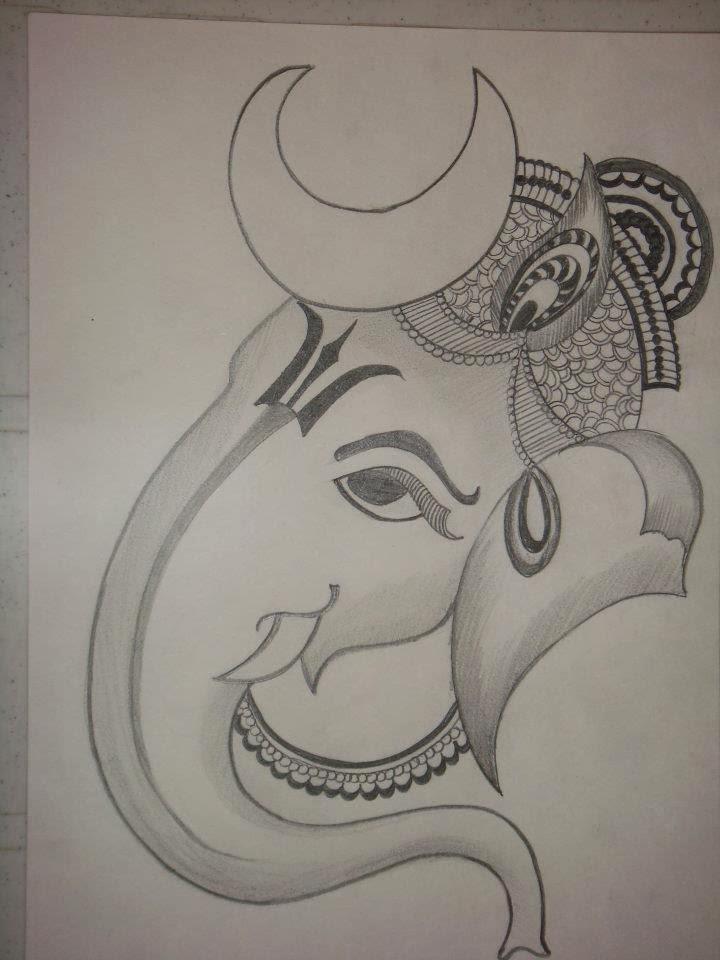 Drawing Of Lord Ganesha Clip Art Library