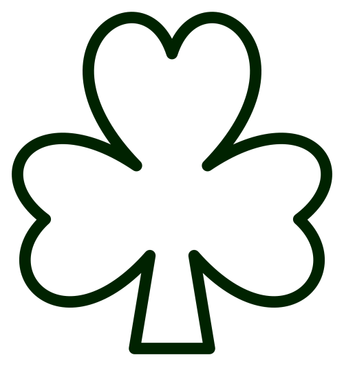 small resolution of clip art saint pattys shamrock black white line clipart