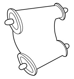 scroll template free download clipart library [ 1275 x 1650 Pixel ]