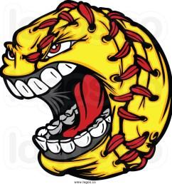 softball clip art royalty free clip art vector logo of a screaming [ 1024 x 1044 Pixel ]
