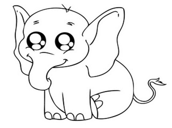 coloring pages elephant # 21