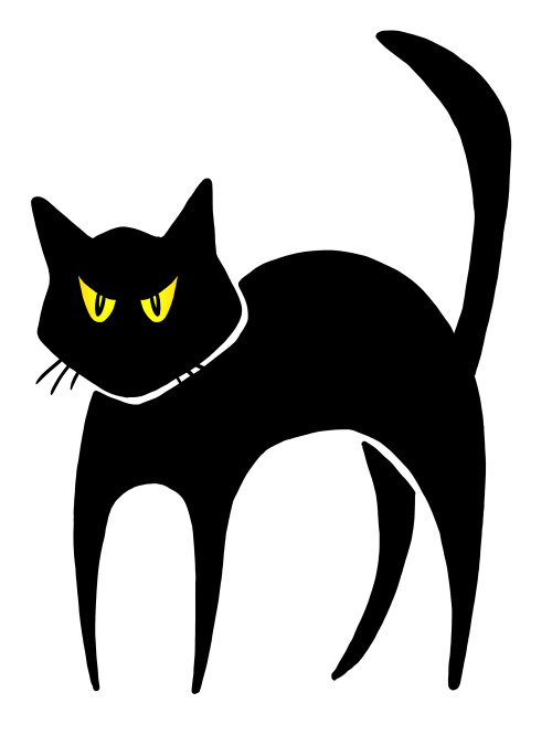 small resolution of halloween black cat clipart funkyfunz