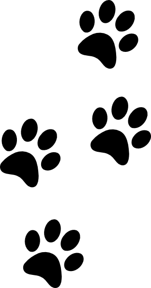 Lion Paw Print Clip Art : print, Outline, Footprint,, Download, Clipart, Library