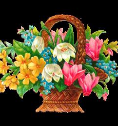 antique images free flower basket clip art 2 wicket baskets full [ 1353 x 971 Pixel ]