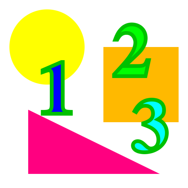 Math Shapes and Numbers Clip Art