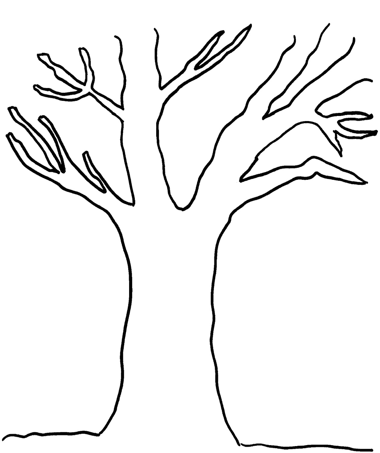 Free Leafless Tree Outline Printable Download Free Clip