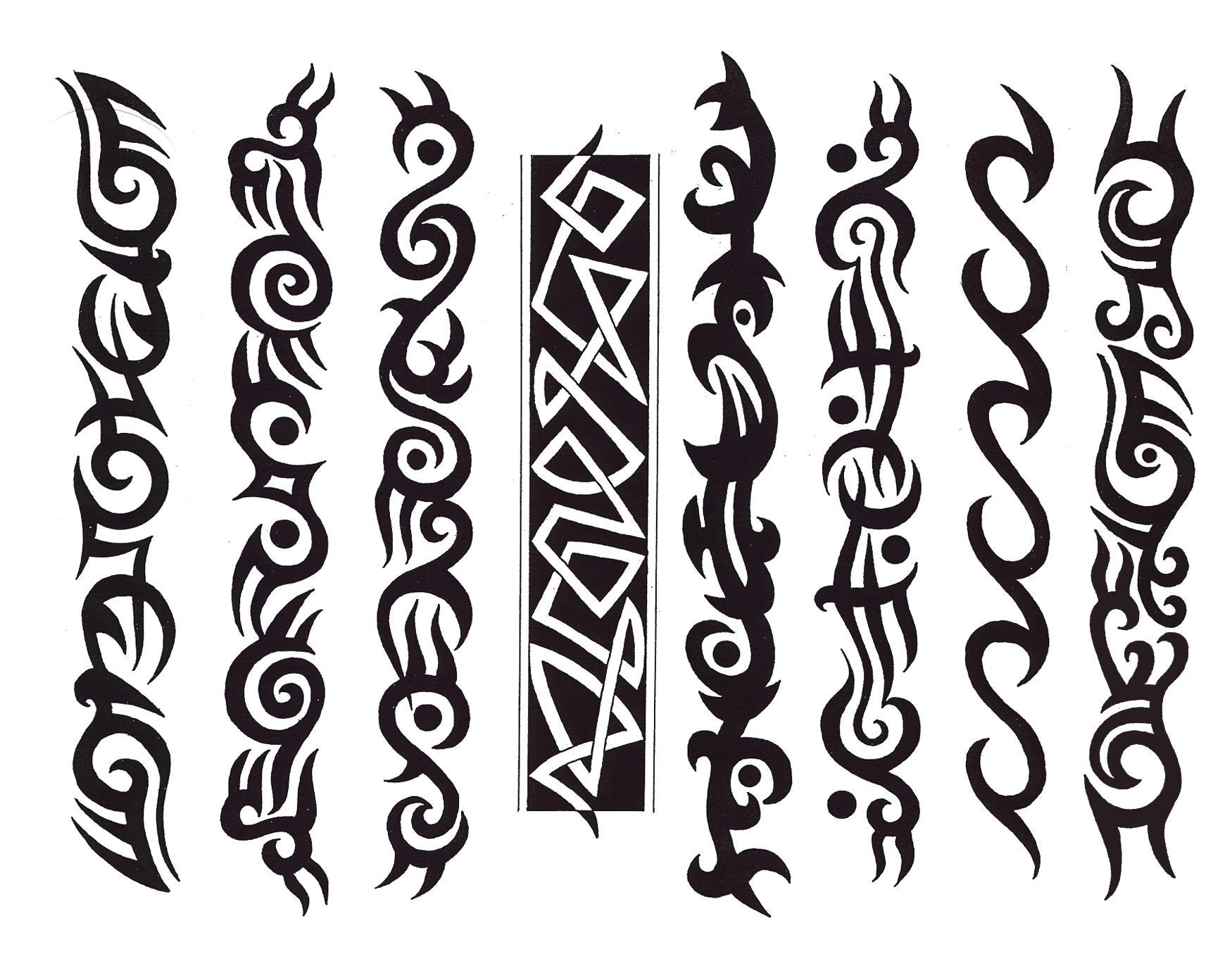 Simple Tribal Line Design