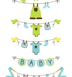 baby boy clothesline clip art baby shower clip art [ 736 x 1226 Pixel ]