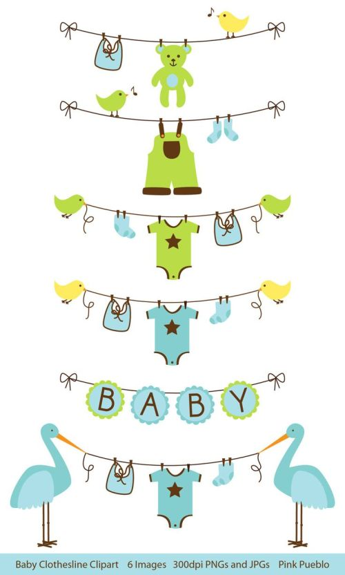 small resolution of baby boy clothesline clip art baby shower clip art