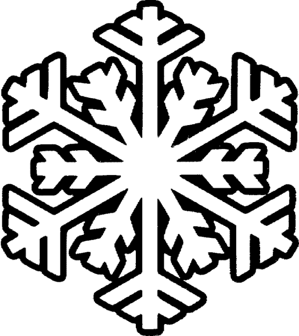 free snowflake line art