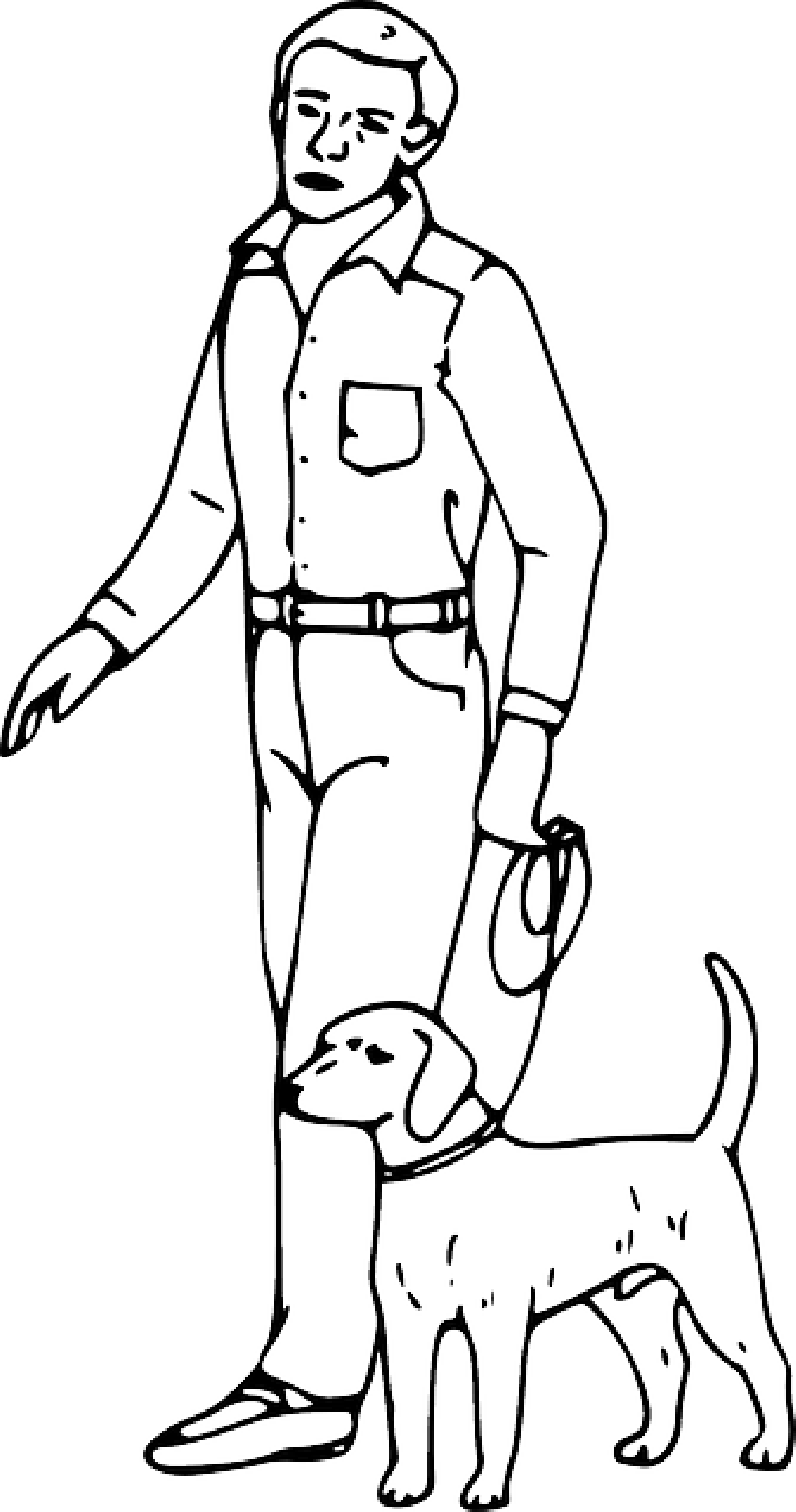 Free Person Outline Coloring Page, Download Free Clip Art