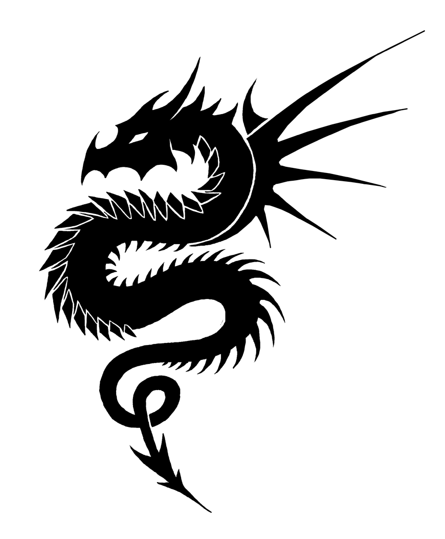 Dragon Clipart Black And White : dragon, clipart, black, white, Dragon, Black, White,, Download, Clipart, Library