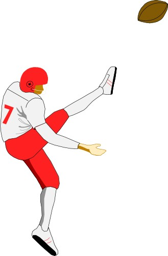 Free Football Player Kicking Ball Download Free Clip Art