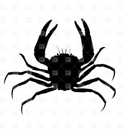 crab silhouette plants and animals download royalty free vector [ 1200 x 1200 Pixel ]