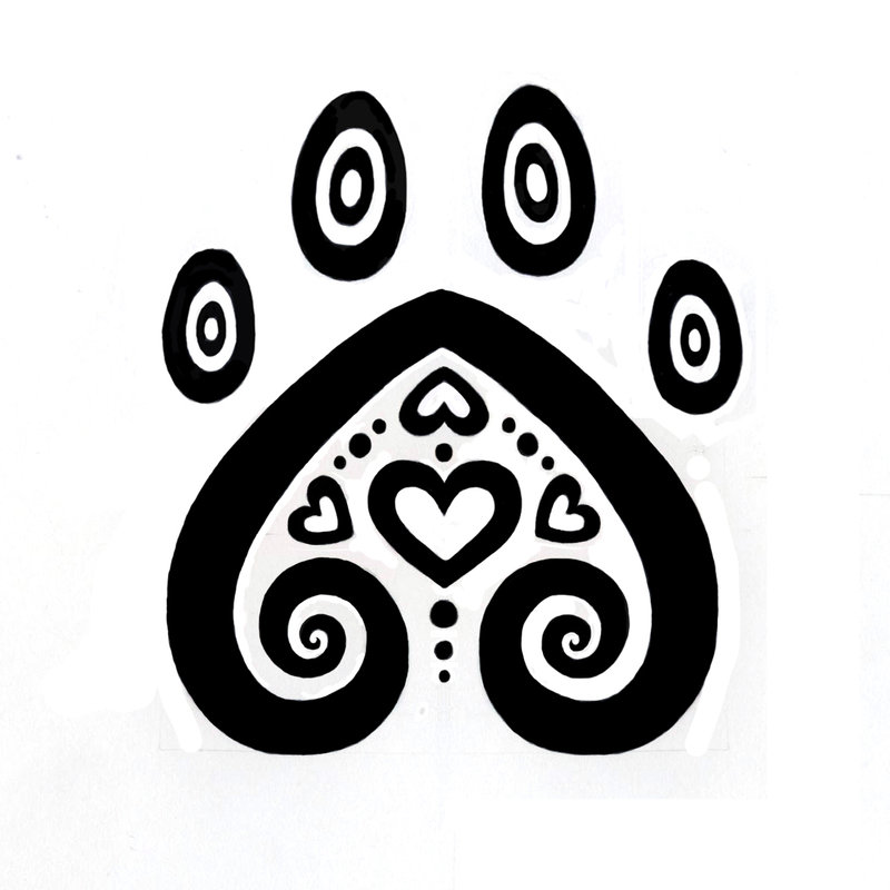 Free Dog Paw Print Stencil, Download Free Clip Art, Free
