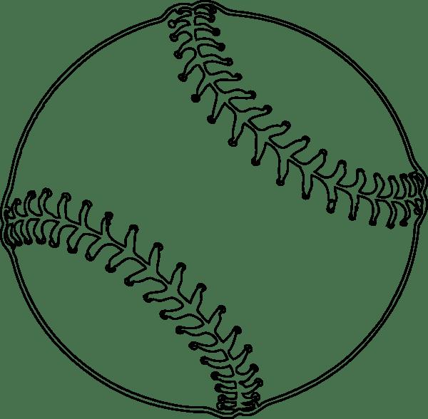 Free Baseball Outline, Download Free Baseball Outline png