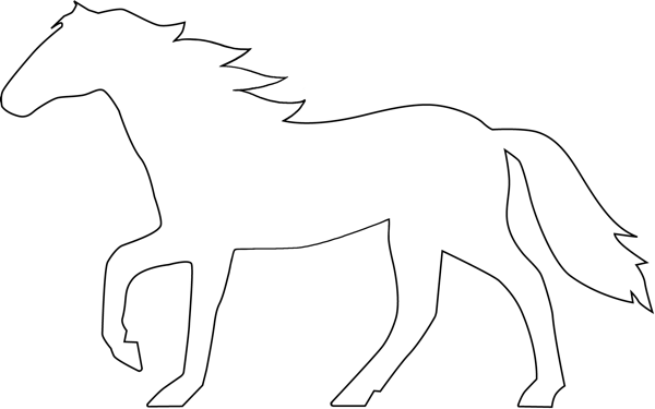 Free Horse Outline, Download Free Clip Art, Free Clip Art
