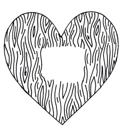 the mayberry sparrow faux bois valentines a diy rubber stamp [ 928 x 980 Pixel ]