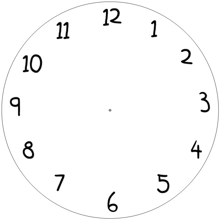 Printable Blank Clock Faces