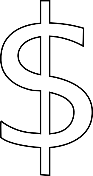 Money Sign Drawing : money, drawing, Dollar, Stencil,, Download, Clipart, Library