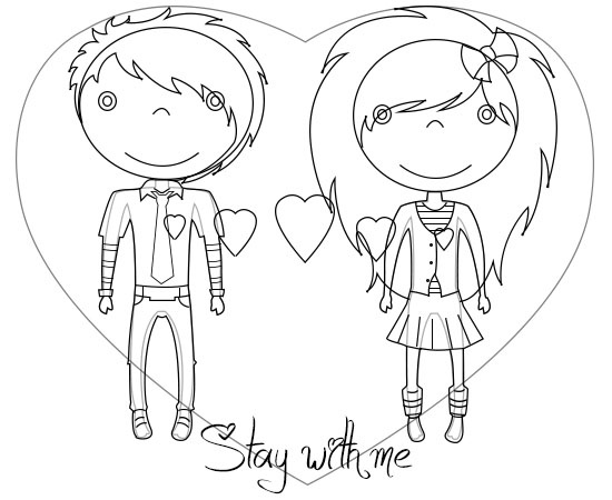 Free Cartoon Love Couple To Draw, Download Free Clip Art