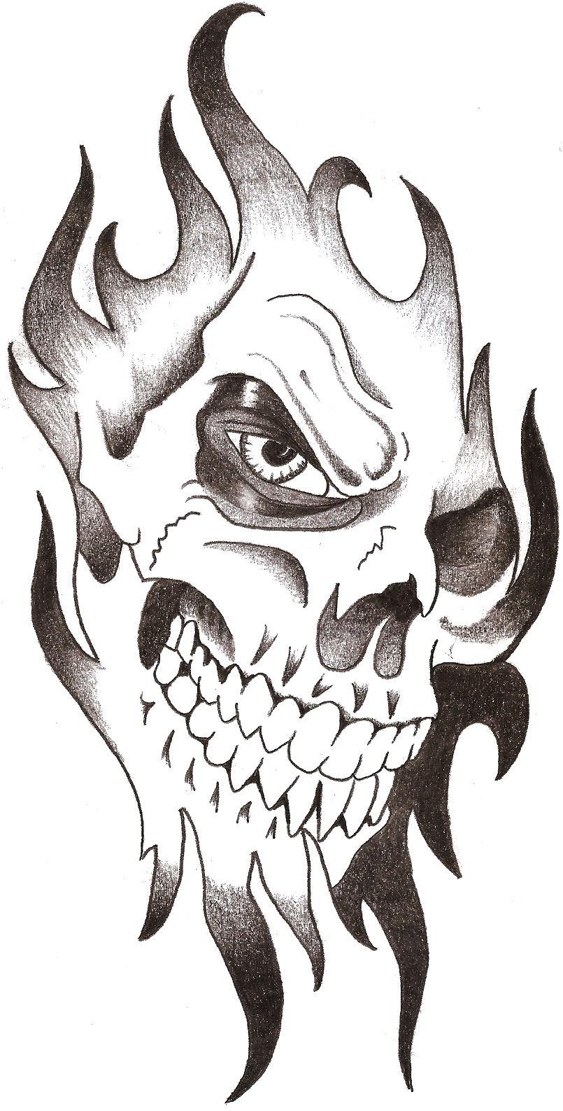 Cool Skull Sketch : skull, sketch, Skull, Drawing,, Download, Clipart, Library