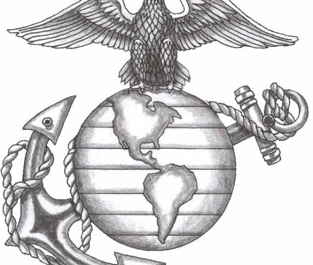 Usmc Tattoo Ega Stencil Eagle Globe Anchor Line Art