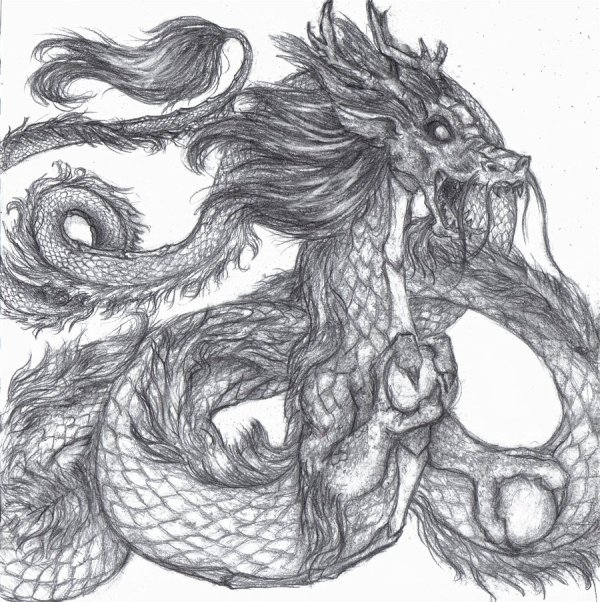 Free Chinese Dragon Drawing Clip Art