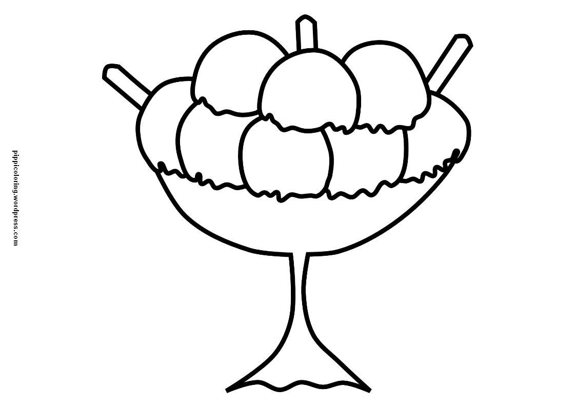 Ice Cream Pippi S Coloring Pages