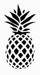 Pineapple Silhouette Png Transparent Pineapple Silhouette Png Clip Art Library