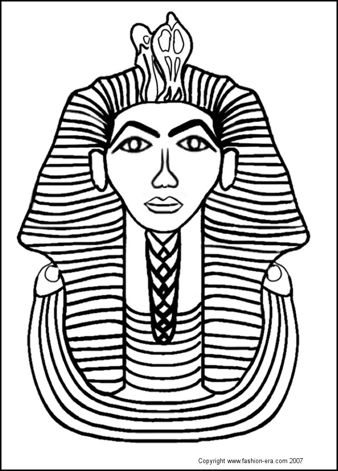 Tutankhamun Death Mask To Colour