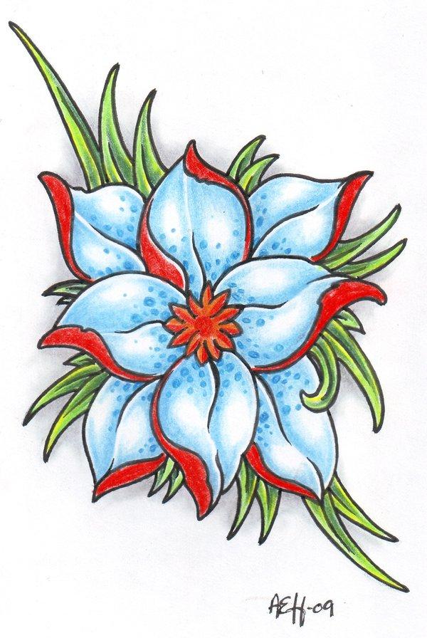 Gambar Tato Bunga Mawar Di Tangan Simple