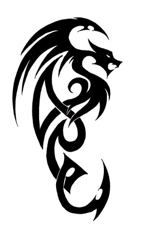 dragon tattoo simple drawing designs tribal tattoos line dragons sketch clipart easy drawings cliparts stencils japanese viking celtic cool clip