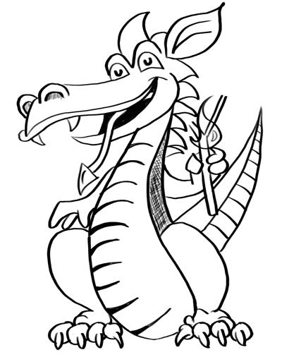 Dragon drawing coloring ~ Child Coloring