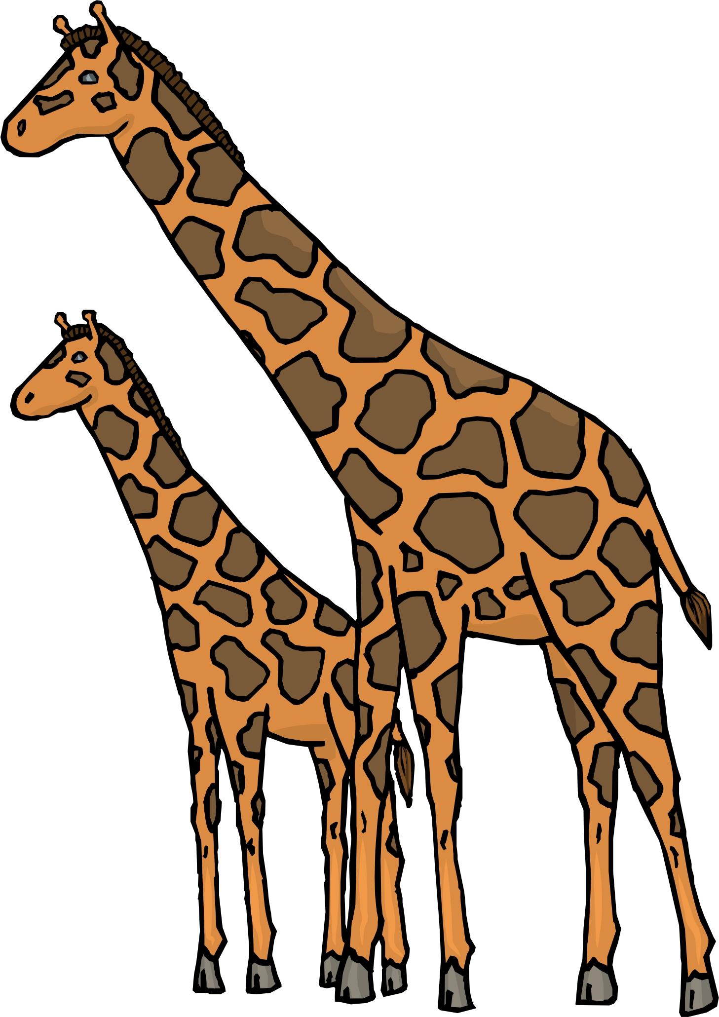 hight resolution of cartoon baby giraffe images clipart library